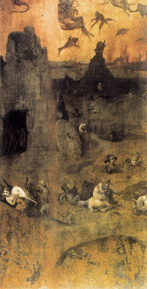 Hieronymous Bosch's The Fall Of The Rebel Angels, 1500-1504.