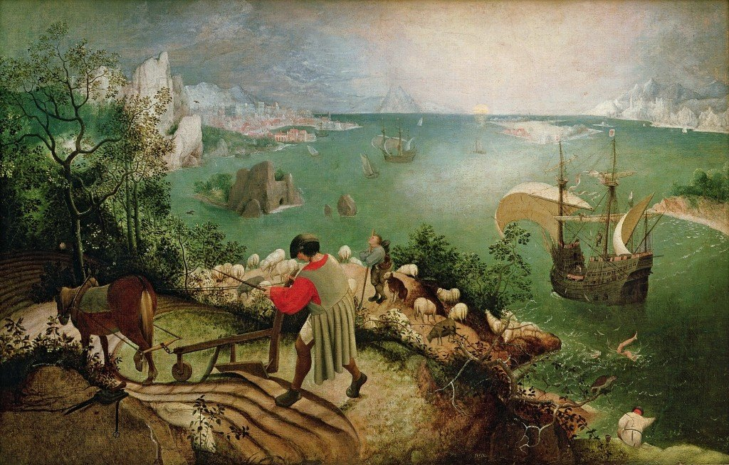 Pieter Bruegel's Landscape With The Fall Of Icarus (1560s)