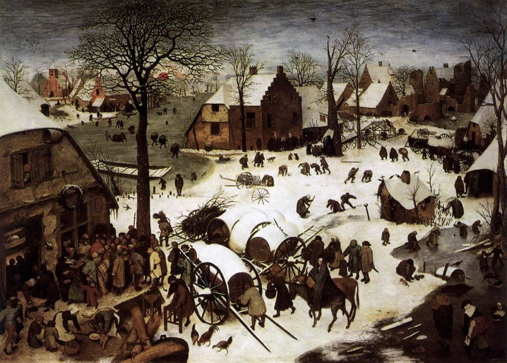 Pieter Bruegel's The Census At Bethlehem (1566)