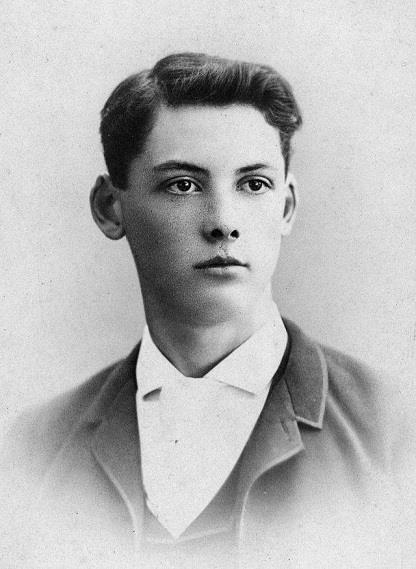Edwin Arlington Robinson as a young man.