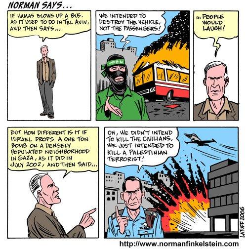 Norman Finkelstein mid-argument.