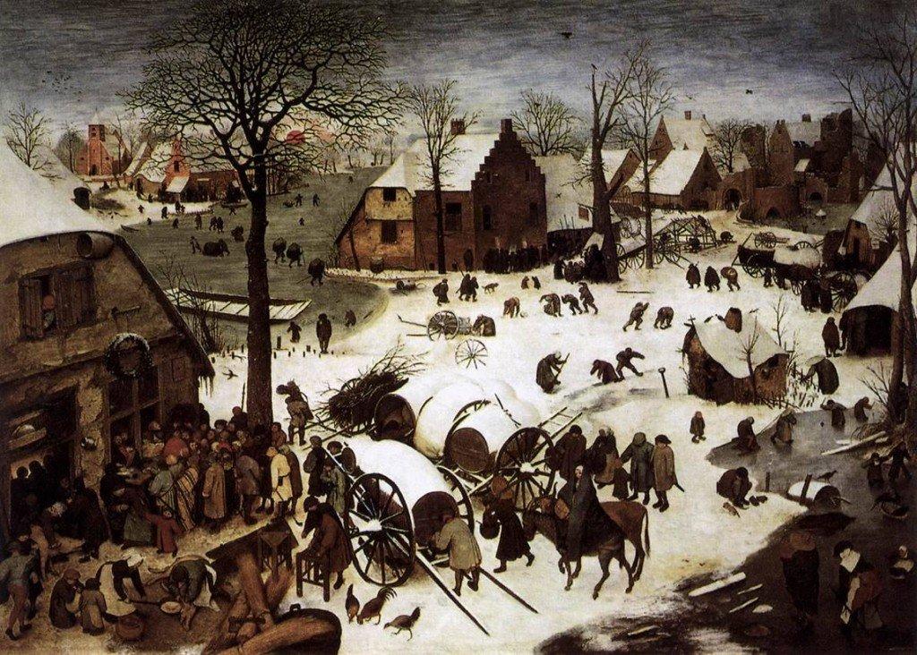 Pieter Bruegel's The Census At Bethlehem (1566)