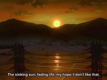 Neon Genesis Evangelion Cliches Sunset
