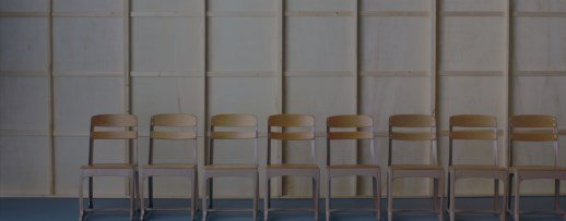 A shot of chairs in Casting JonBenet.